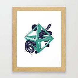 Dark Blue Snake Framed Art Print