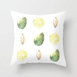 Avocado, Lemon and Shallot Throw Pillow