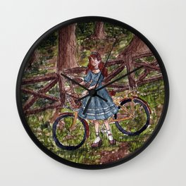 Wandering in the Woods Wall Clock