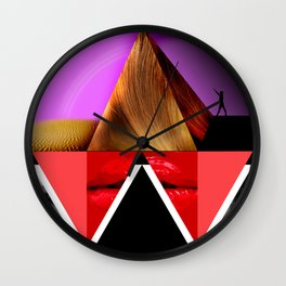 Pyramid of Women Wall Clock