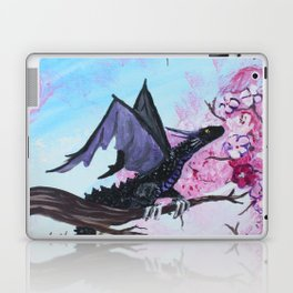 Baby Black Dragon in Cherry Tree Laptop & iPad Skin