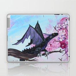 Baby Black Dragon in Cherry Tree Laptop & iPad Skin