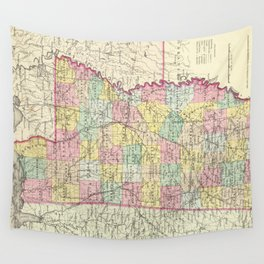 Vintage Map of Mississippi (1856) Wall Tapestry