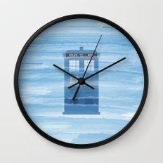 TARDIS Under the Sea - Doctor Who Digital Watercolor Wall Clock