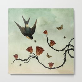 Bird & Brambles Metal Print