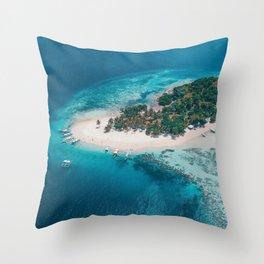 Coron Palawan Philippines Throw Pillow