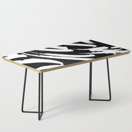 Black and White Brush Strokes Coffee Table