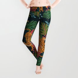 Jungle Cats - Roaring Tigers Leggings