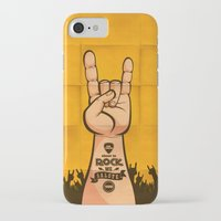 rock and roll iPhone & iPod Cases featuring Rock & Roll by Rodrigo Molina