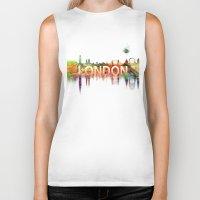 london Biker Tanks featuring london by mark ashkenazi
