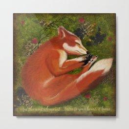 Sleeping Fox, Listen to your Heart Metal Print