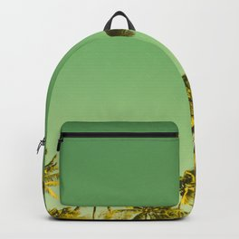 palm love in tropical green gold jewel tones Backpack