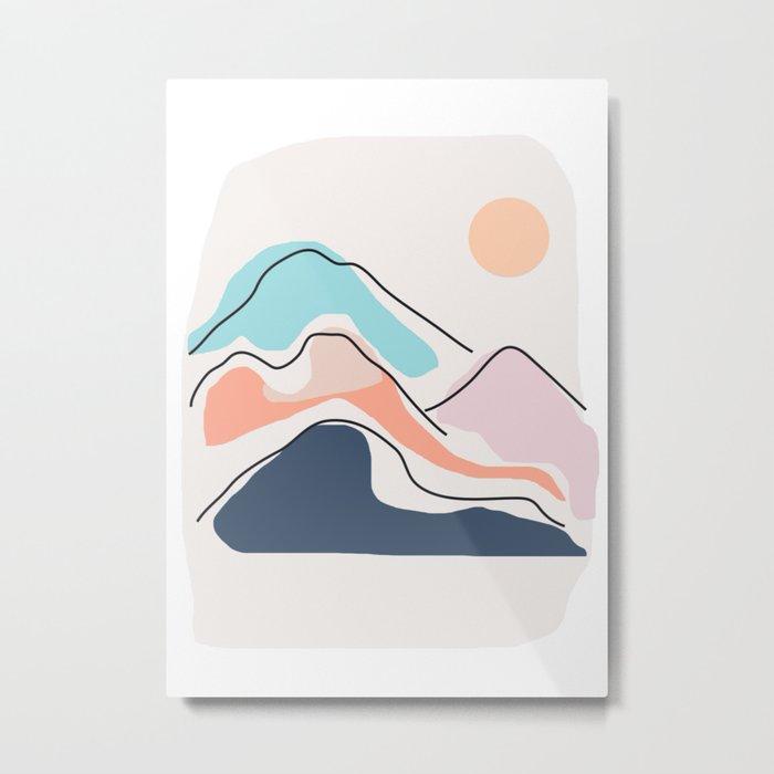 Minimalistic Landscape III Metal Print