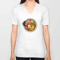 ramen V-neck T-shirts featuring Ramen by Tami Wicinas