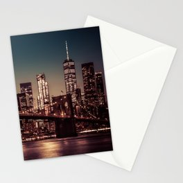 Freedom Tower and Brooklyn Bridge, New York City 2 Stationery Cards