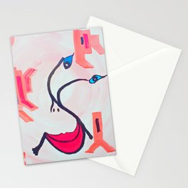 Be Positiv and Keep Smiling Stationery Cards