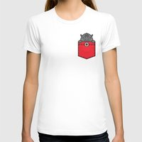 pocket T-shirts featuring Pocket Rhino by Steven Toang