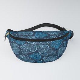 Oriental Paisley Ornament - Blue Fanny Pack