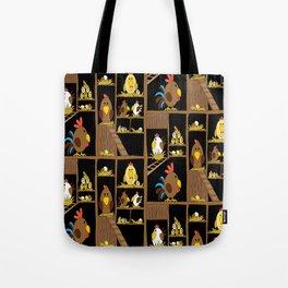 Chicken Coop - chickens, farm, illustration, birds Tote Bag