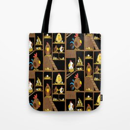 Chicken Coop - by Kara Peters - chickens, farm, illustration, birds Tote Bag