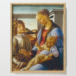 Botticelli  -  Virgin And Child With An Angel Serving Tray