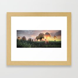 The Mushrooms are Here Framed Art Print