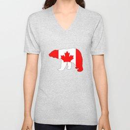 "Polar Bear ""Canada"" Unisex V-Neck"