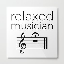 Relaxed musician Metal Print