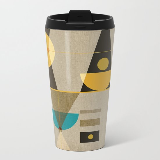 Geometric/Abstract 19 Metal Travel Mug