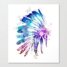 mandala colorful headdress Canvas Print