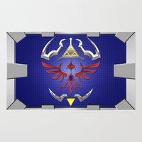 zelda Area & Throw Rugs featuring Zelda Shield by Janismarika