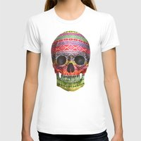 navajo T-shirts featuring Navajo Skull  by Terry Fan