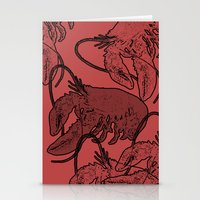 lobster Stationery Cards featuring lobster by Isabella Asratyan