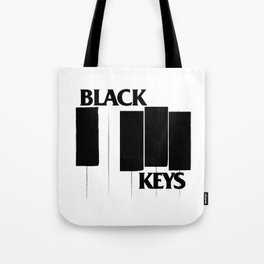 The Black Piano Keys Tote Bag