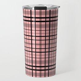 Pink black plaid #pink #plaid Travel Mug