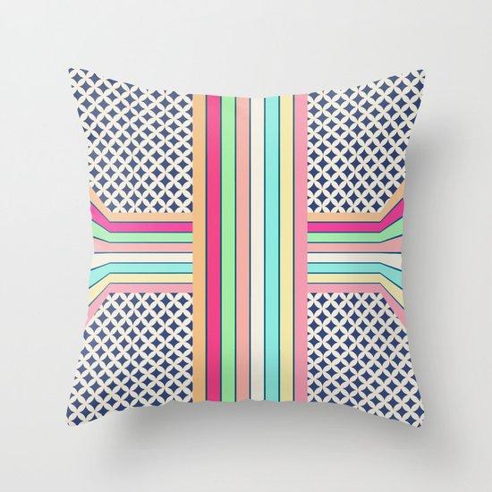 pop cross Throw Pillow