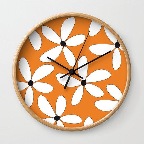Happy Flowers Orange by lisa-sjostrom