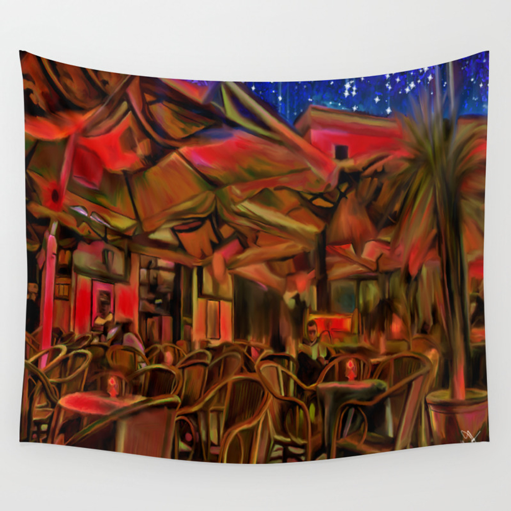 Late Dinner Wall Tapestry by Darlaferrara TPS4251261