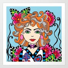 Style Girl - Shella - Blue Art Print