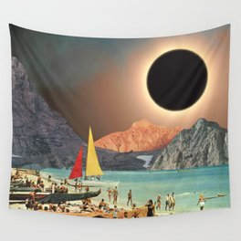 Eclipse Beach Wall Tapestry