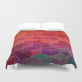 geometric pattern with geometric shapes, rhombus Duvet Cover