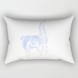 Be Brave Llama Rectangular Pillow