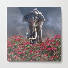 Mighty Mammoth Wild Rose Metal Print