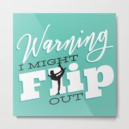 Gymnast Flip Metal Print