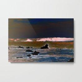 The Upside-Down State Beach Metal Print