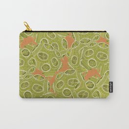 olive orange algae Carry-All Pouch