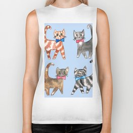 Cute kittys Biker Tank