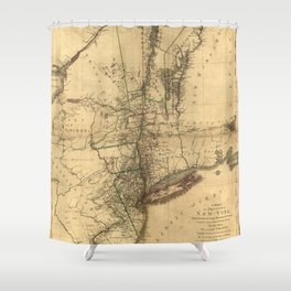 Map of the Province of New York by William Faden (1776) Shower Curtain