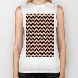 Chevron Pattern Rose Gold Biker Tank