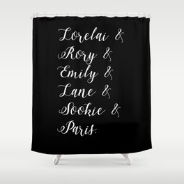 Gilmore girls character list Shower Curtain